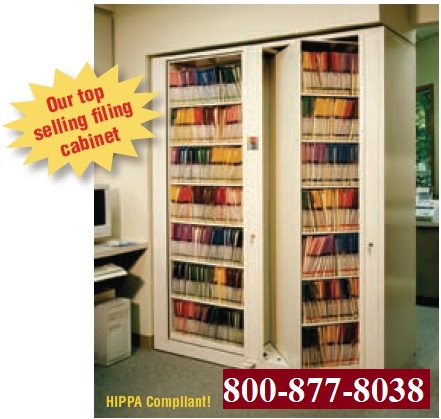HIPAA compliant Times Two, rotating shelving, rotating cabinet one starter one add-on